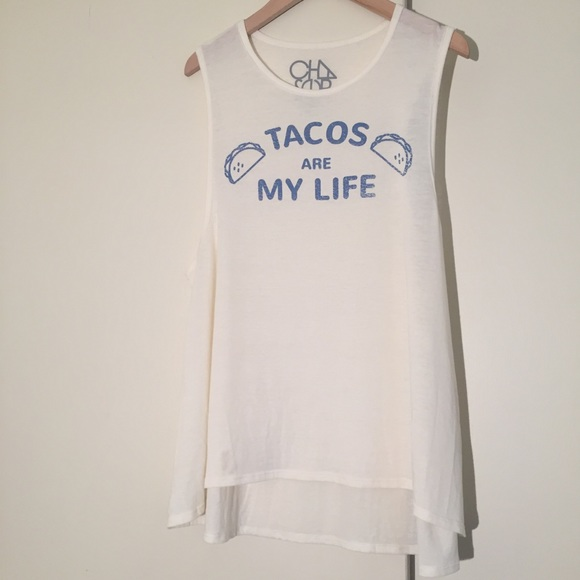 150faa1e83f3e8 Chaser Tops - NWOT Chaser tacos is my life tank top size M